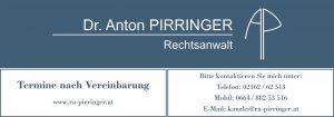 Tafel Rechtsanwalt Dr. Anton Pirringer 2460 Bruck an der Leitha 2413 Berg