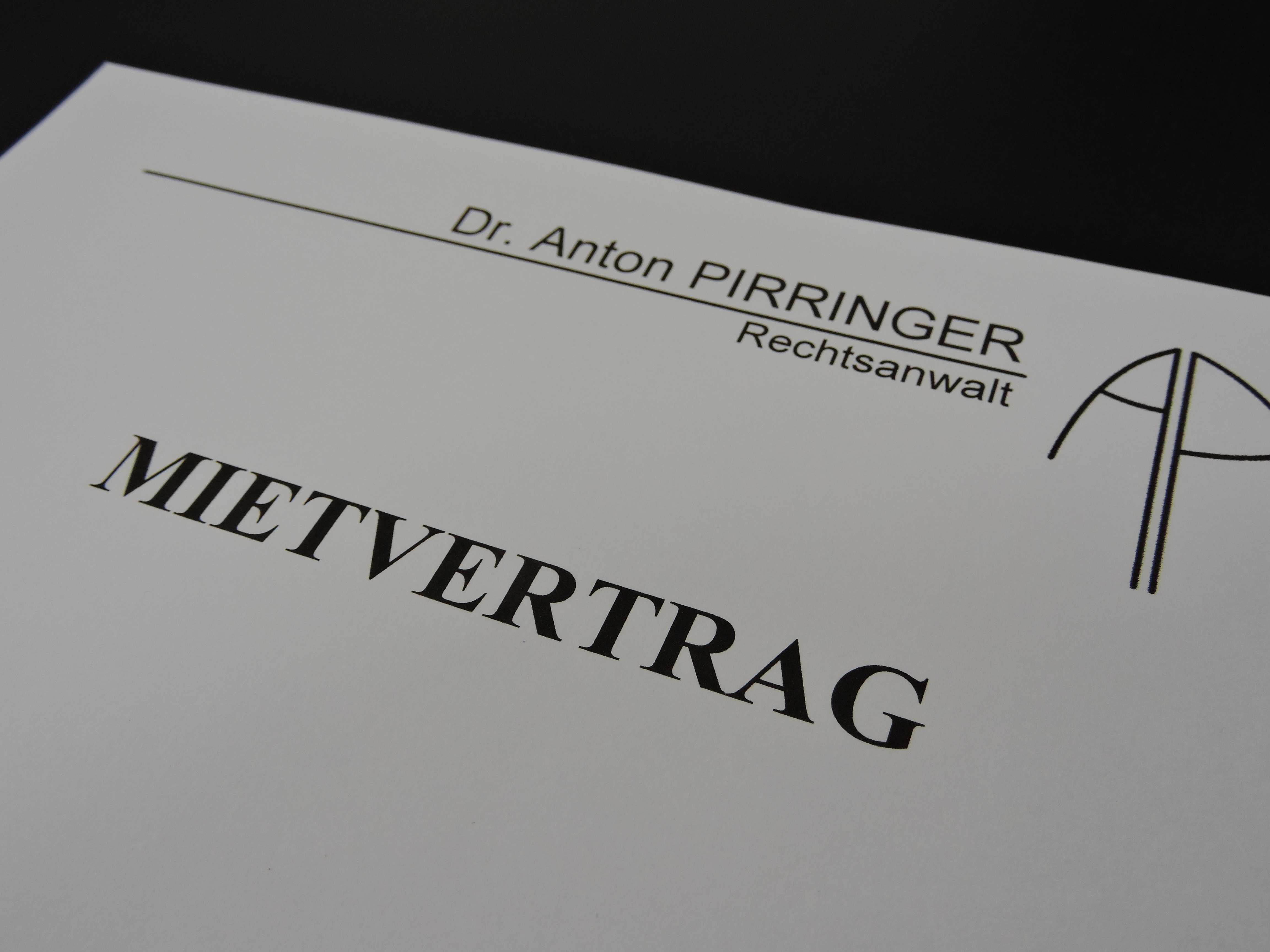 Mietvertrag Rechtsanwaltskanzlei Anwalt Dr. Anton Pirringer Bruck an der Leitha 2460